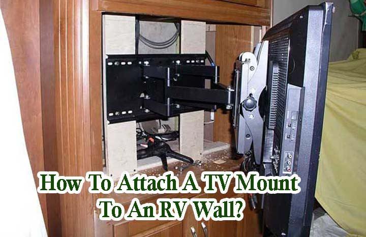 TV Mounted to Wall of RV Van